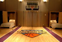 Basketball Rooms / We have installed basketball hoops INSIDE bedrooms before! Some of our favorite basketball-themed, indoor rooms.