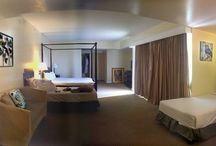 Family Suite- Bird theme / 4 adults, 2 children maximum - 2 double, 2 single beds  Partial oceanview guestroom