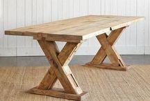 Tables / Massive wooden tables in the dining room or out