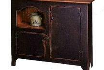primitive cabinets / by Linda Riggs