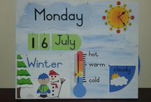 Weather Board (800x600mm) / Each object is designed, cut out separately and hand painted