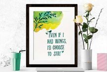 Printable Art Home Decor Wall / A collection of Printable quotes. Perfect for gifts, art decor, poster, etc. Surround your life with positive words.