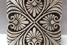 Wooden print blocks