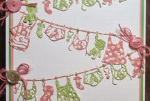 Cards baby washing line