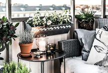 Balkon w mieście