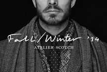 Atelier Scotch - F/W 14 / Atelier Scotch gives every man the chance to tap into his inner gentleman. Discover finely weaved shirts and pullovers, modern suits, elegant pants, tailored coats and luxurious accessories.