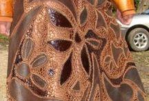 кожа + вязание