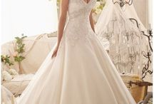 Bridal gown straps