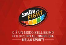 Smile and Fight / Aiutaci a raccogliere 1000 sorrisi arcobaleno per chiedere di inserire il divieto di discriminazione per l'orientamento sessuale negli statuti delle federazioni sportive italiane: vai su http://bit.ly/smileandfight-selfie e posta il tuo sorriso! #SmileAndFight