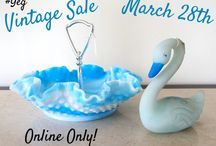 Online Vintage Sale in Edmonton / YEG / I'm selling my collection of vintage glass, china, and other fun old collectible items! Sale starts March 28th. Edmonton pick up only. Prices go down and down until someone comments SOLD! Facebook Group: https://www.facebook.com/groups/YEGVintage/  I'm a reputable seller with 17 years selling online. Selling my inherited collection to focus on my true love...✨✨jewelry✨✨ Invite your friends!