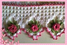 Barrados / Barrados de crochê para panos de prato ou toalhas