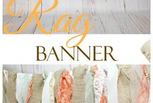 banner/rag tag privacy curtain