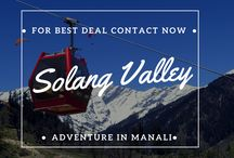 Solang Valley / Solang Valley  is a side valley at the top of the Kullu – Manali Vallley in Himachal Pradesh, India. It is  known for its summer and winter sport conditions. It is popular for skiing, paragliging and more . You can do there A giant ball with room for 2 people which is rolled down a 200 metre hill, Paragliding, Horse riding,Cable cars up to the mountain in solang valley, Going to   summit can be possible by ATVs, Ropeway or Climbing (Trekking) and much more…
