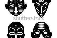 Afrika Masken  sicken nähen