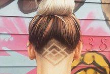 fryzury wygolony tył