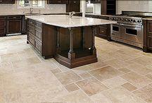 Kitchen Tile Floors / 1017 Bullard Court Suite 103, Raleigh, NC 27615 919-848-9232 www.carolinaflooringinc.com