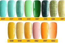 Q1T Professional UV nail polish- Green & yellow shades