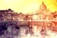 #Watercolor #cityscape