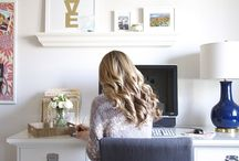 Office Space / No matter where you work, in an office or at home, your office space says a lot about you. Plus, having an organized, inspiring space goes a long way for productivity.