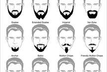 Miesten hiukset ja partamallit