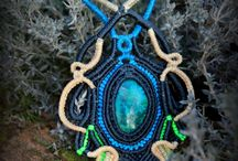 Creations in macramé / My own creations in macramé.