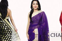 The Indian Spring / Ethnic Indian Clothing, handwoven Chanderi Saris, Phulkari dupattas and embelisshed jewels from www.theindianspring.com