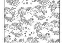 Coloriages de fleurs et nature / Ce tableau comporte toutes les merveilles que dame Nature a créé. Les dessins n'attendent plus que toi pour les imprimer et les colorier !