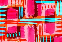 PRINTS and PATTERNS / Artistic prints and patterns on walls, wallpaper, drawings, fabrics