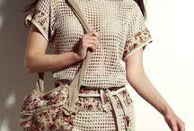 Pletené a háčkované sukně a šaty / Pletené a háčkované sukně a šaty
