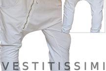 Pantaloni donna tuta fitness con zip obliqua / Pantalone donna sportivo con cerniera frontale obliqua, tasche e laccio in vita