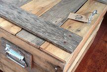 repurposed pallets / by Kathleen Bogart