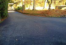 NEW CRAIGATIN TARMAC DRIVEWAY / November 2013 - New Tramac driveway goes down at Craigatin House Pitlochry