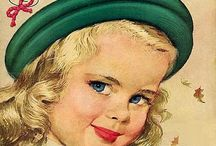 retro vintage paper doll etc