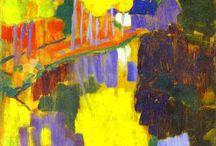 """Nabizm / Nabizm - kierunek w sztuce - grupa artystyczna (1894-1901 Francja) organizatorem którego był Paul Sérusier. Artykuł z sierpnia 1890 pt. """"Definicja neo-tradycjonalizmu"""" drukowany w piśmie Sztuka i Krytyka uważany był za manifest artystyczny tegoż kierunku. Ich malarstwo charakteryzuje zazwyczaj przygaszony koloryt, płaskość plamy barwnej, wyraźny kontur. Odrzucali zasady akademickiego malarstwa uważając je za sztuczne i przesadnie odtwarzające pejzaże natury."""
