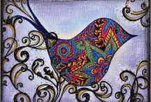 art - zen doodle animals