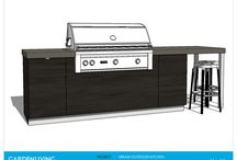 Outdoor Kitchen Architectural Drawings / Outdoor Kitchen Architectural Drawings, SketchUp Concept Renders, Equipment & Layout Drawings. Elevation Drawings for Outdoor Kitchens