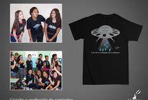 Camisetas / Algumas camisetas impressas ou criadas pela  Blazar