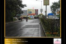 Hoardings at Chikhali - Moshi Road / To book hoardings contact us on - +91 9890801841 | www.aimadvertising.in