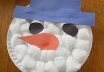 nanny snowman/flake crafts / by Tracy Weidner