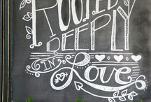 Chalkboard Inspirations / by Darlene - Make Fabulous Cakes