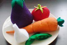 feltro legumes e frutas