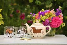 Tableware / Unique hand painted tableware with horses