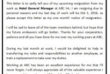 Standard Formal Resignation Letter / A standard resignation letter mentions the notice period as agreed upon in the time of employment and commitment of the human resource to collaborate in the process of smooth transition, if required.