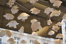Retail Displays / window displays, fashion, couture, paper sculpture, artist life, small business, window ideas, spring fashion