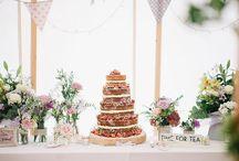 Wedding pudding and cake table