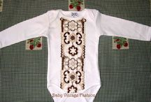 Body-uri vintage pentru bebelusi / Body-uri cu aplicatii vintage cusute manual, in editie limitata sau unicat.