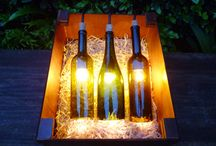 Lampara de botellas / Presentamos nuestra lampara de botellas de vino hecha completamente a mano, diseñada para darle un ambiente único a tu hogar.