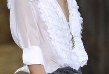 White shirt / White shirt