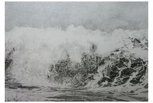 drawing / große welle -Bleistiftzeichnung