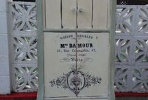 shabby chic / Shabby chic painted with ASCP